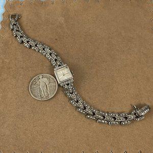 Vintage Accessories - Bucherer Watch Swiss Made in 800 Silver  Marcasite